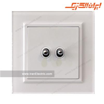 کلید دوپل اهرمی پلکسی سفید