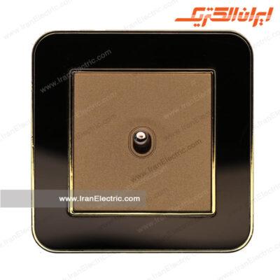 کلید یکپل اهرمی ارس متال طلایی