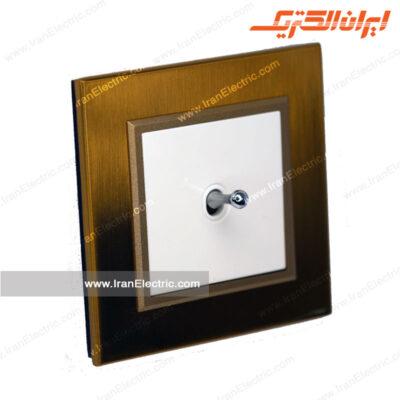 کلید یکپل اهرمی برلیان متال طلایی میان سفید